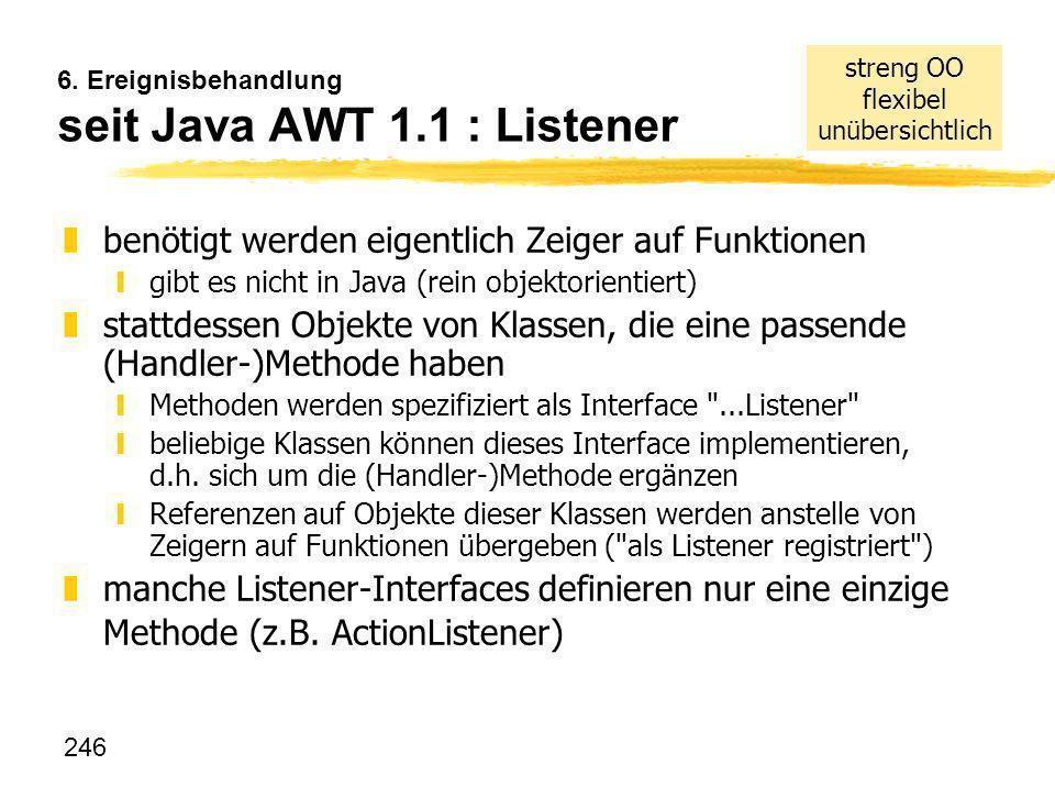 6. Ereignisbehandlung seit Java AWT 1.1 : Listener