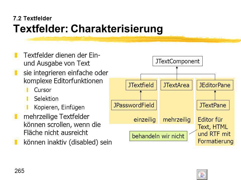 7.2 Textfelder Textfelder: Charakterisierung