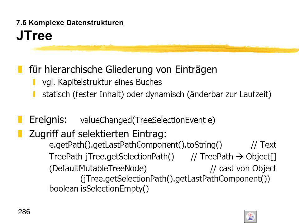 7.5 Komplexe Datenstrukturen JTree