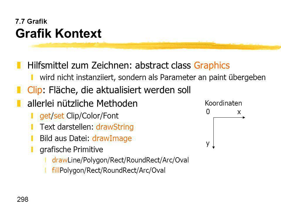 Hilfsmittel zum Zeichnen: abstract class Graphics