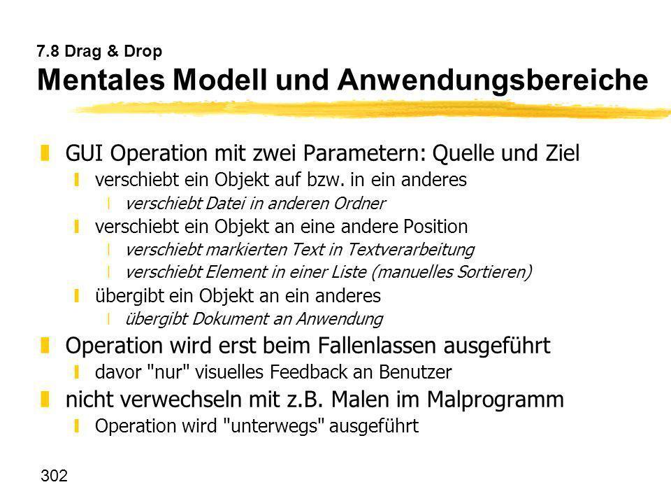 7.8 Drag & Drop Mentales Modell und Anwendungsbereiche