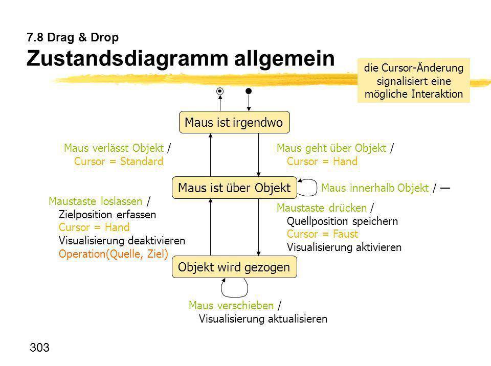 7.8 Drag & Drop Zustandsdiagramm allgemein