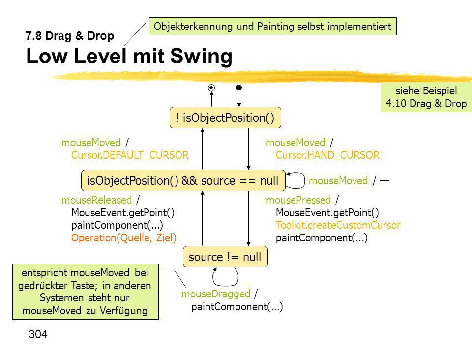 7.8 Drag & Drop Low Level mit Swing