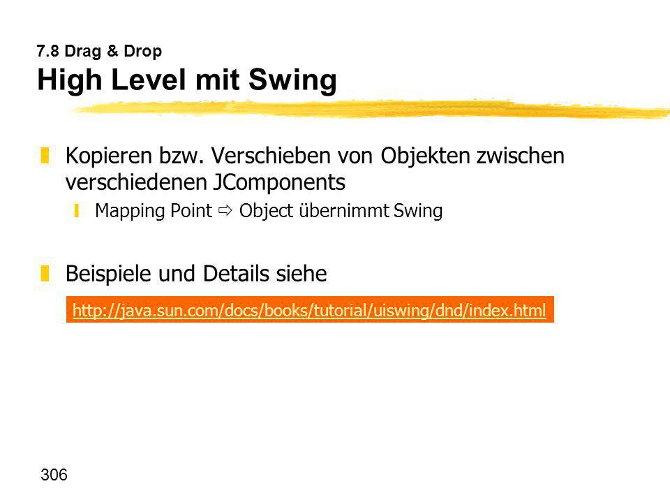 7.8 Drag & Drop High Level mit Swing