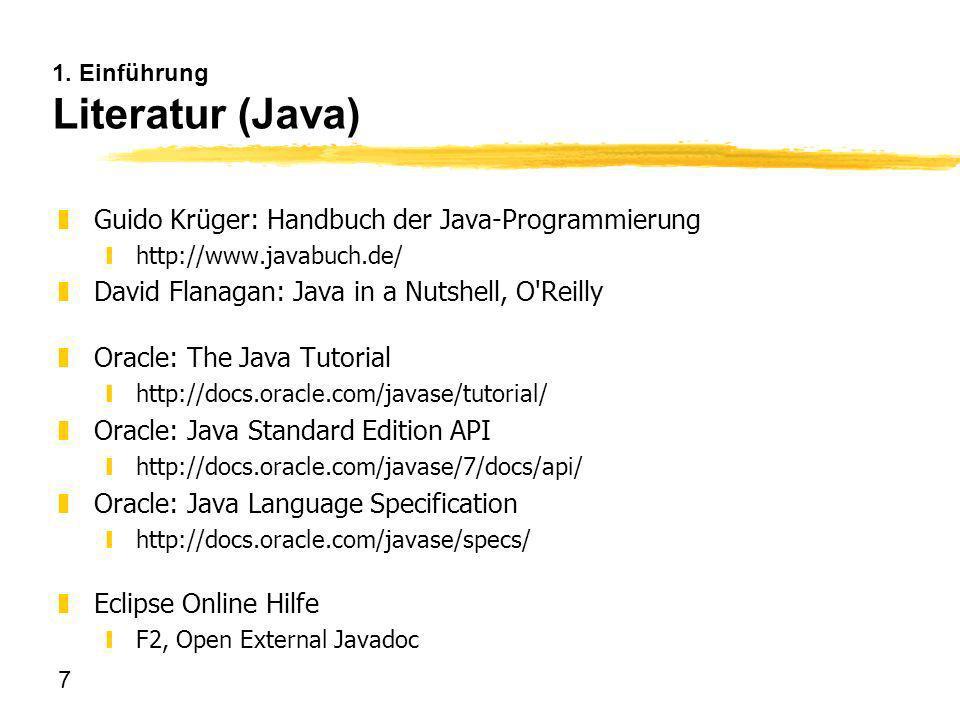 1. Einführung Literatur (Java)