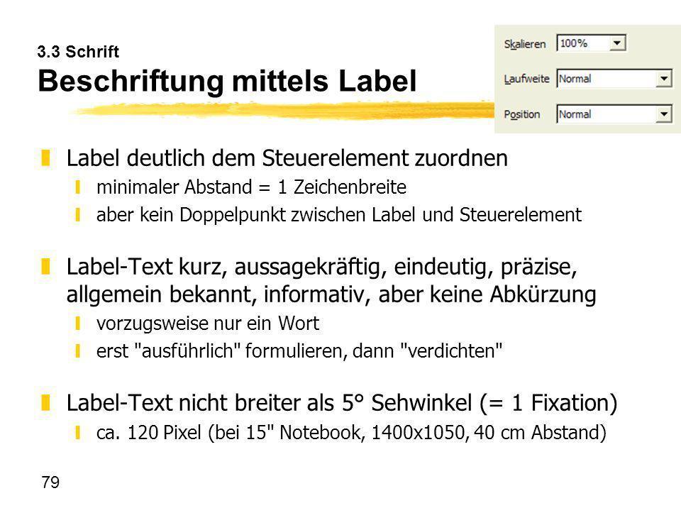 3.3 Schrift Beschriftung mittels Label
