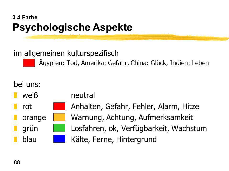 3.4 Farbe Psychologische Aspekte