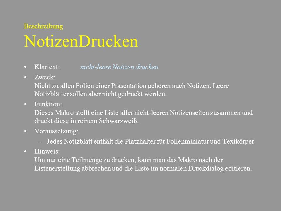 Beschreibung NotizenDrucken