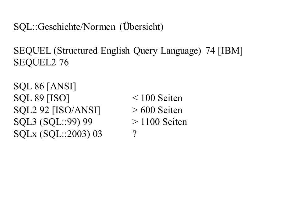 SQL::Geschichte/Normen (Übersicht)