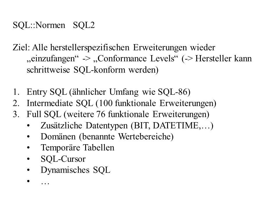 SQL::Normen SQL2