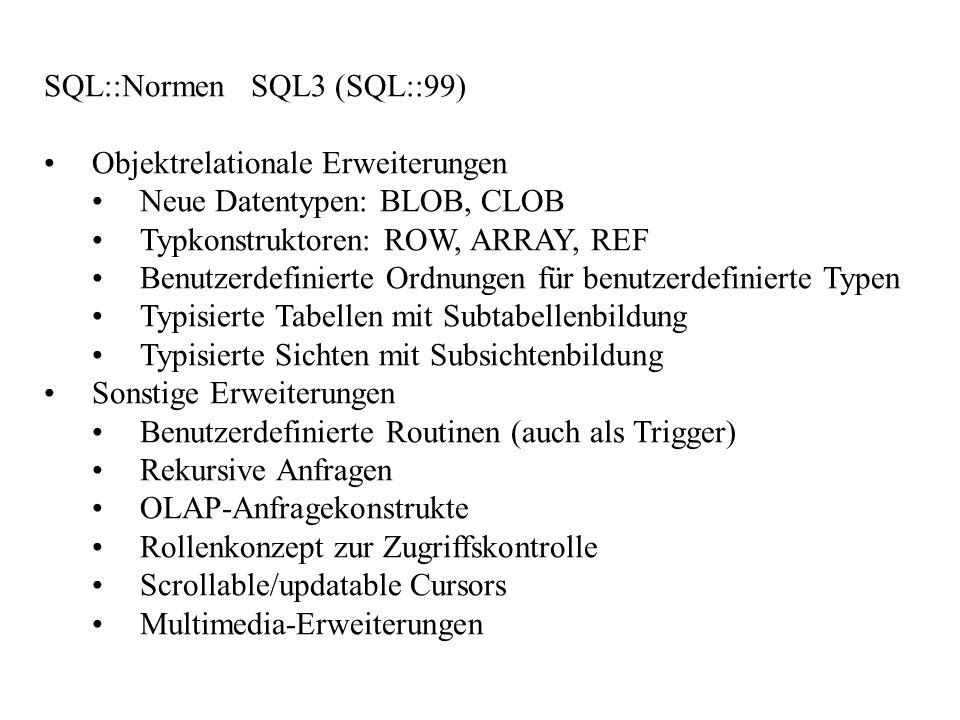 SQL::Normen SQL3 (SQL::99)