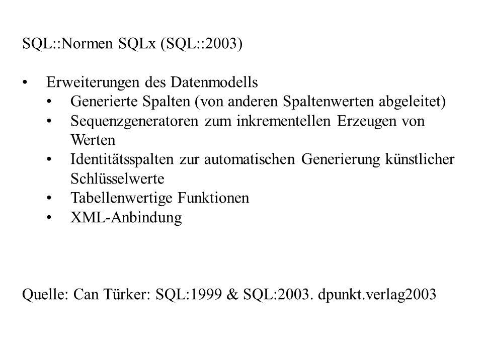 SQL::Normen SQLx (SQL::2003)