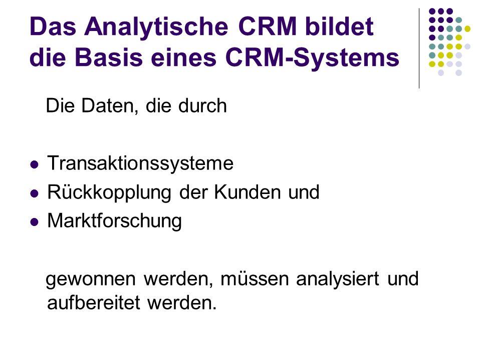 Das Analytische CRM bildet die Basis eines CRM-Systems