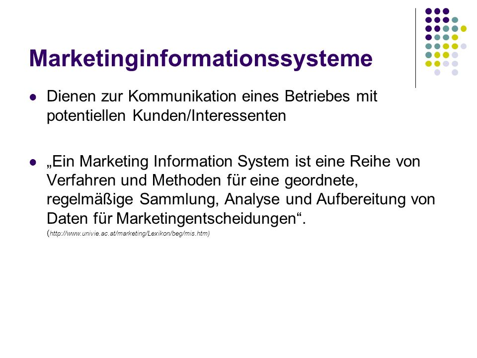 Marketinginformationssysteme