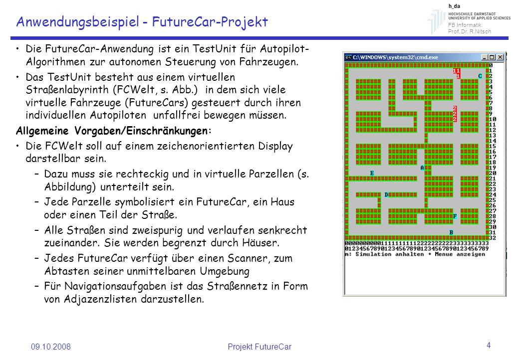 Anwendungsbeispiel - FutureCar-Projekt