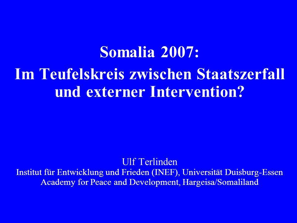 Im Teufelskreis zwischen Staatszerfall und externer Intervention