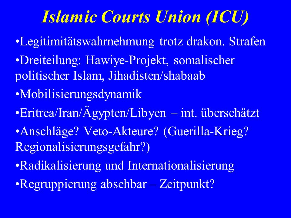 Islamic Courts Union (ICU)