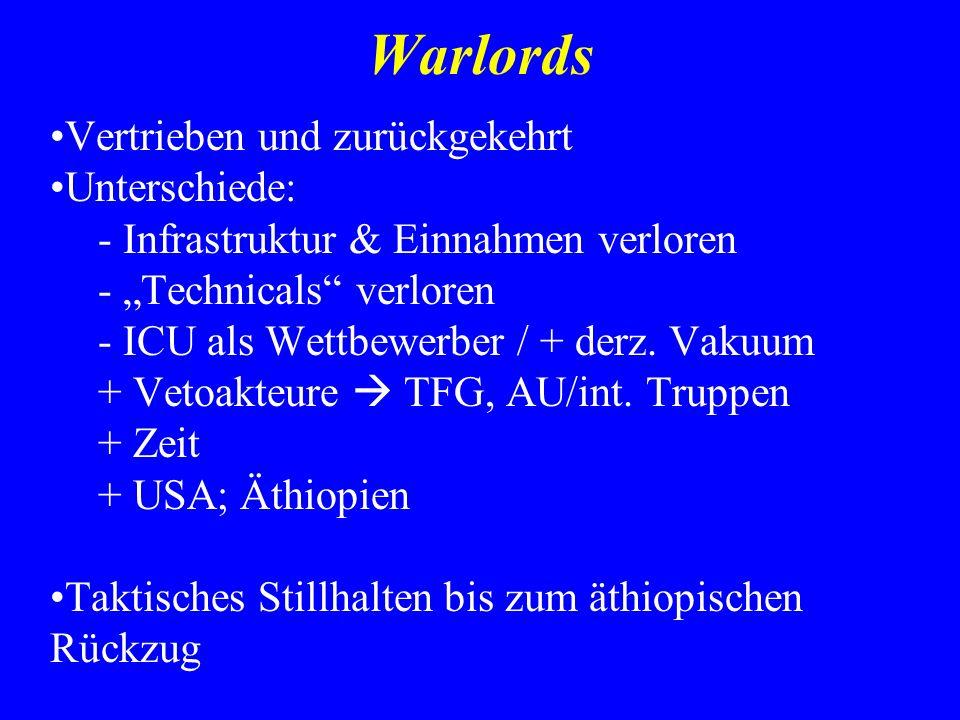 Warlords Vertrieben und zurückgekehrt Unterschiede: