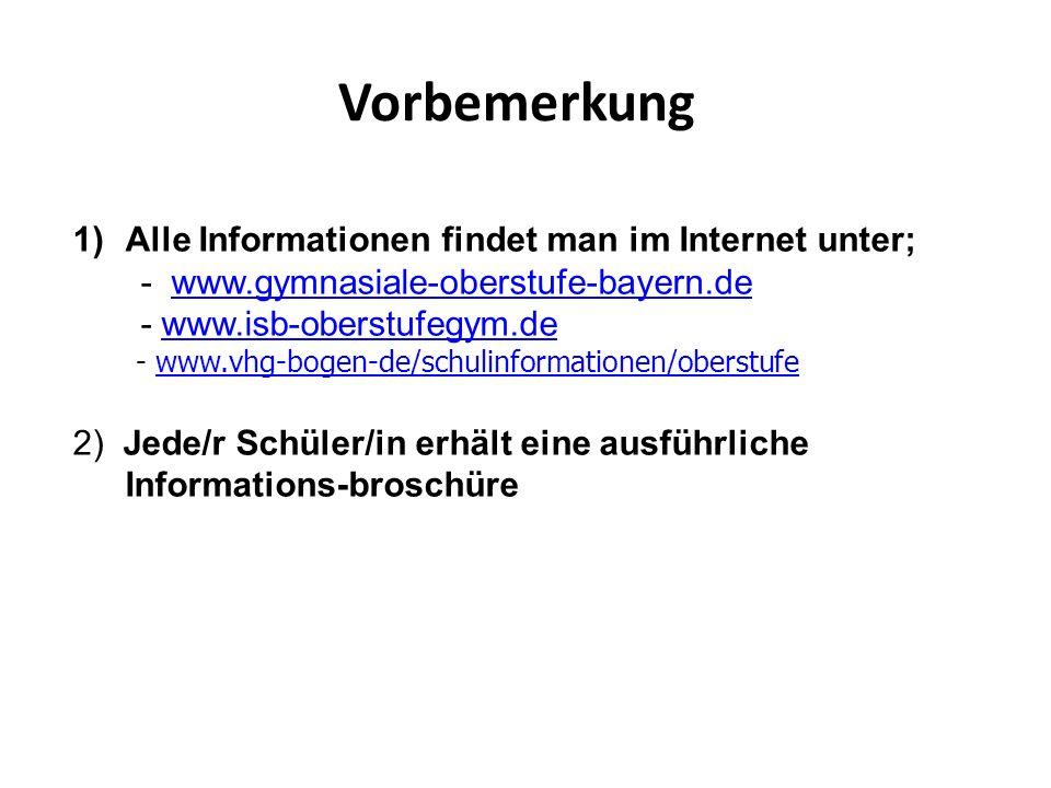 Vorbemerkung Alle Informationen findet man im Internet unter;