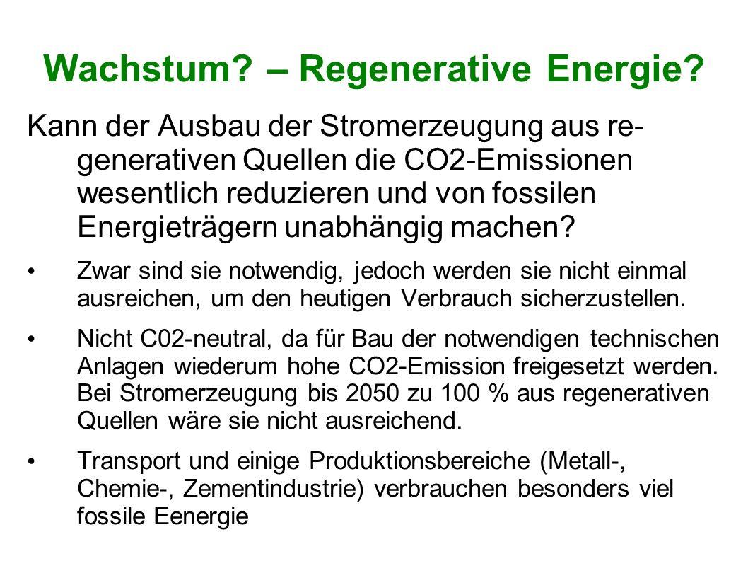 Wachstum – Regenerative Energie