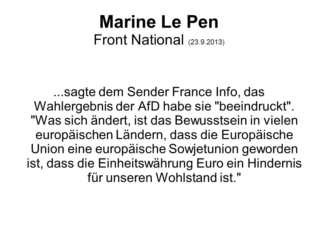Marine Le Pen Front National (23.9.2013)
