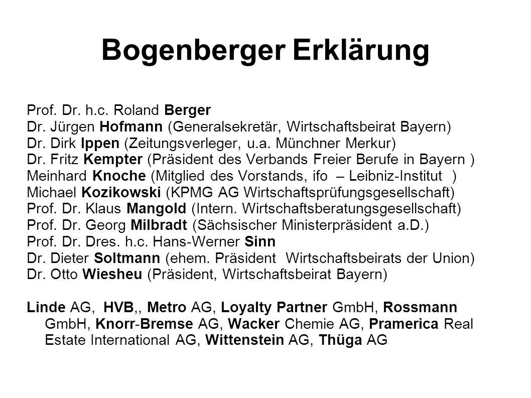 Bogenberger Erklärung