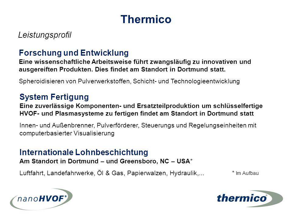Thermico Leistungsprofil Forschung und Entwicklung System Fertigung