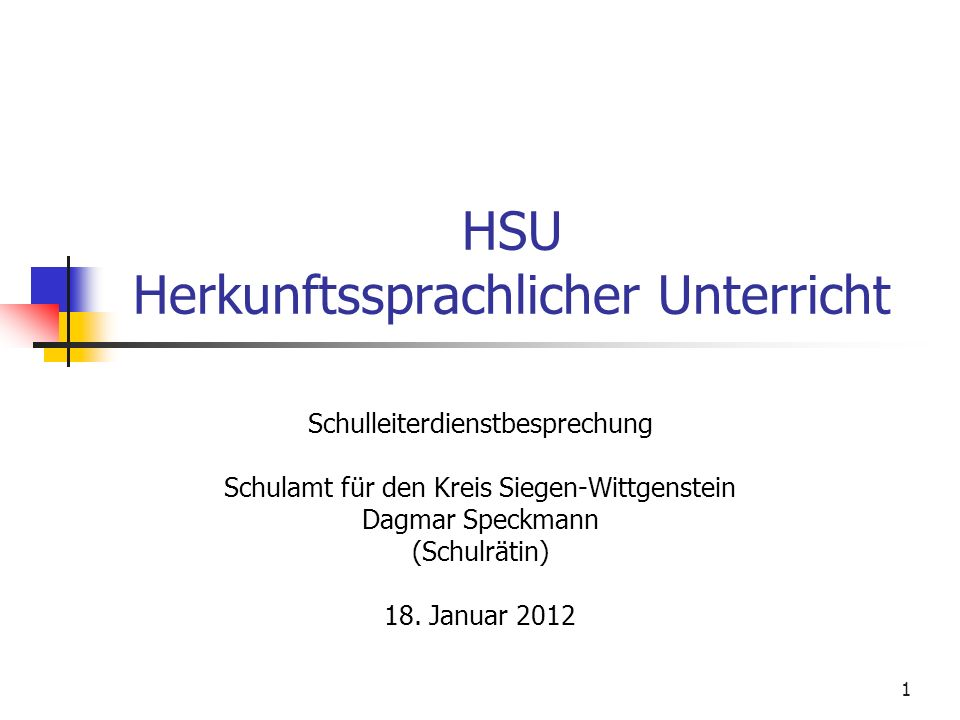 HSU Herkunftssprachlicher Unterricht