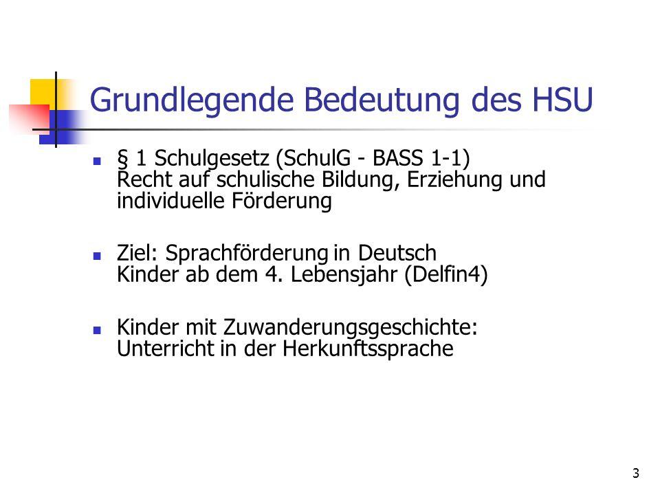 Grundlegende Bedeutung des HSU