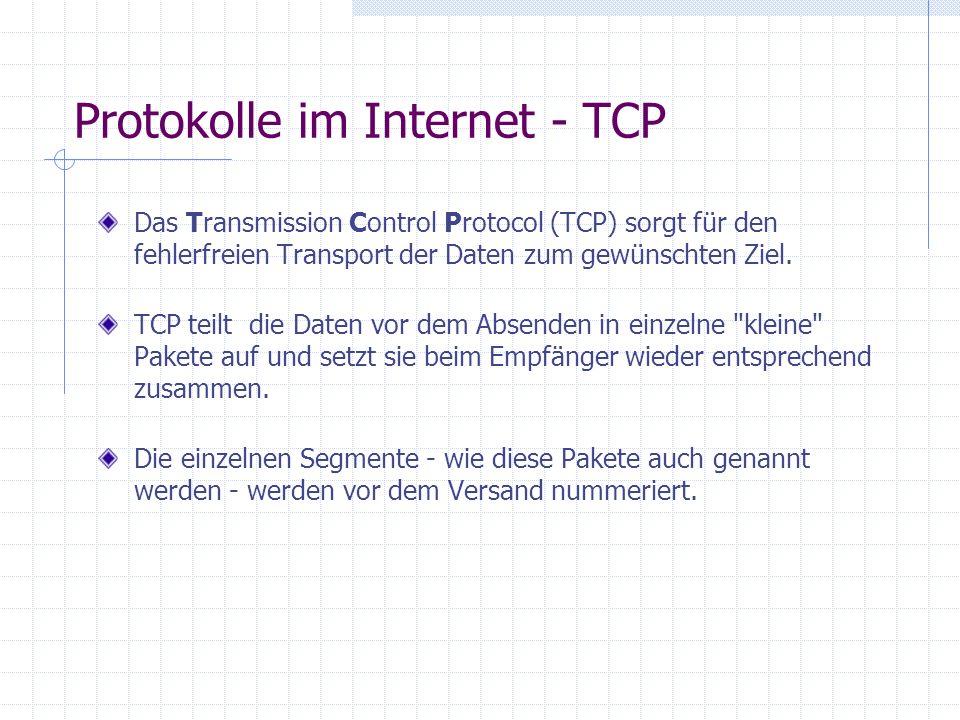 Protokolle im Internet - TCP