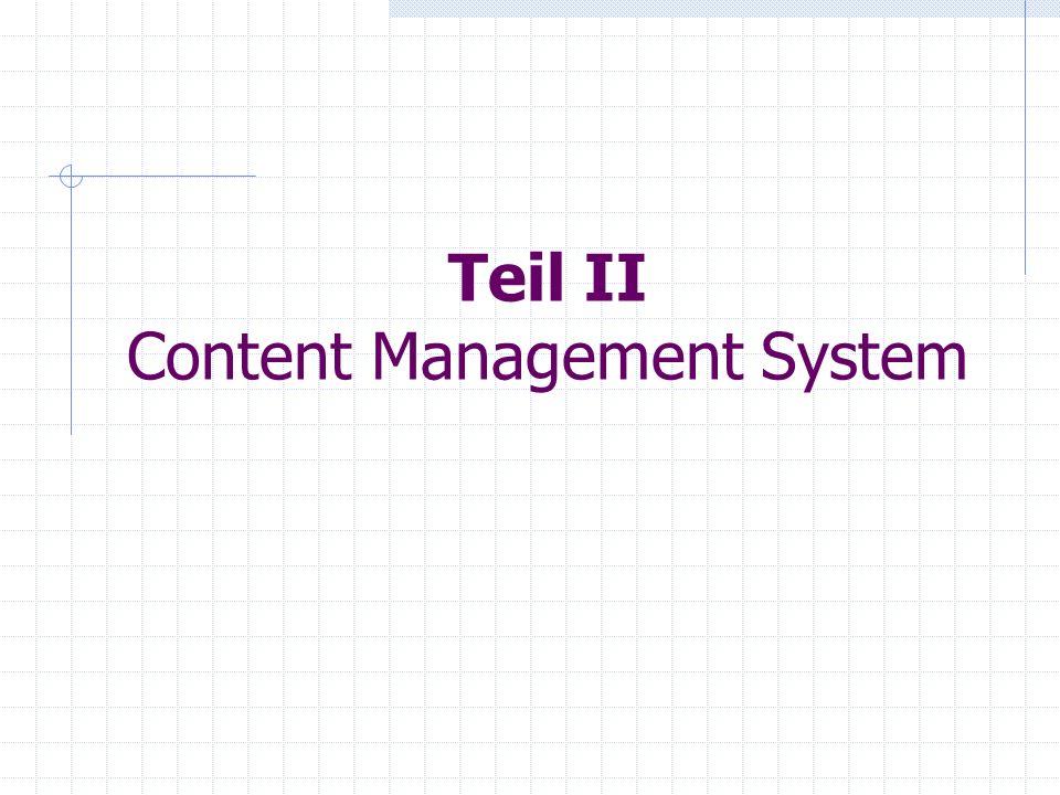 Teil II Content Management System