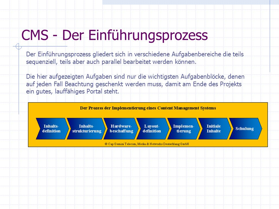 CMS - Der Einführungsprozess