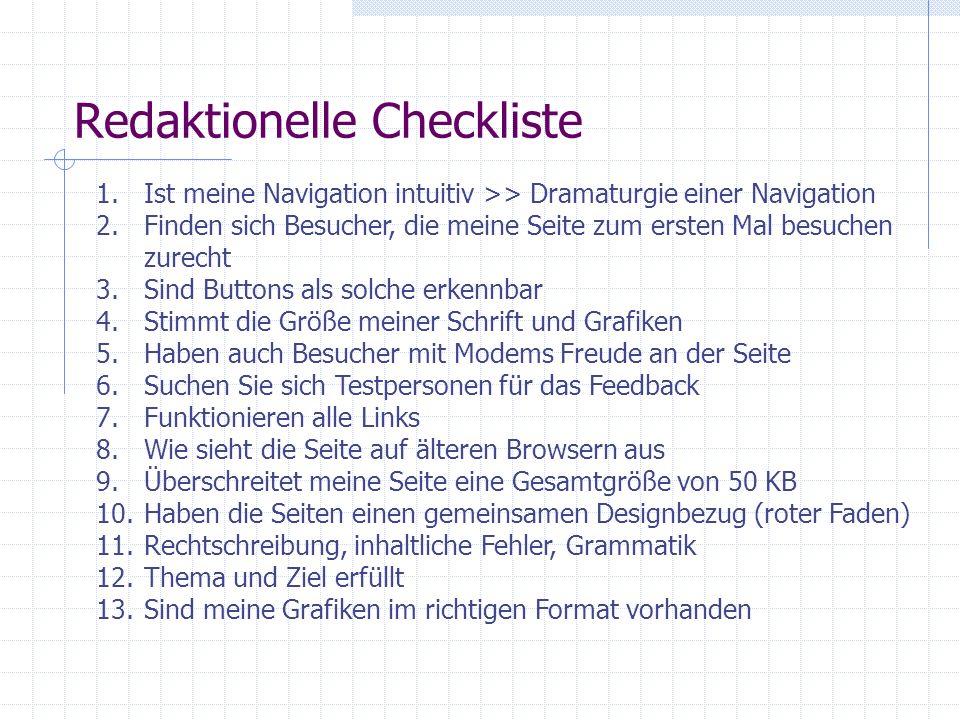 Redaktionelle Checkliste