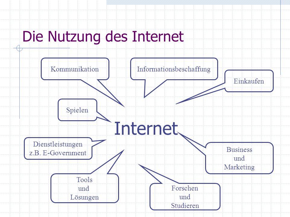 Die Nutzung des Internet