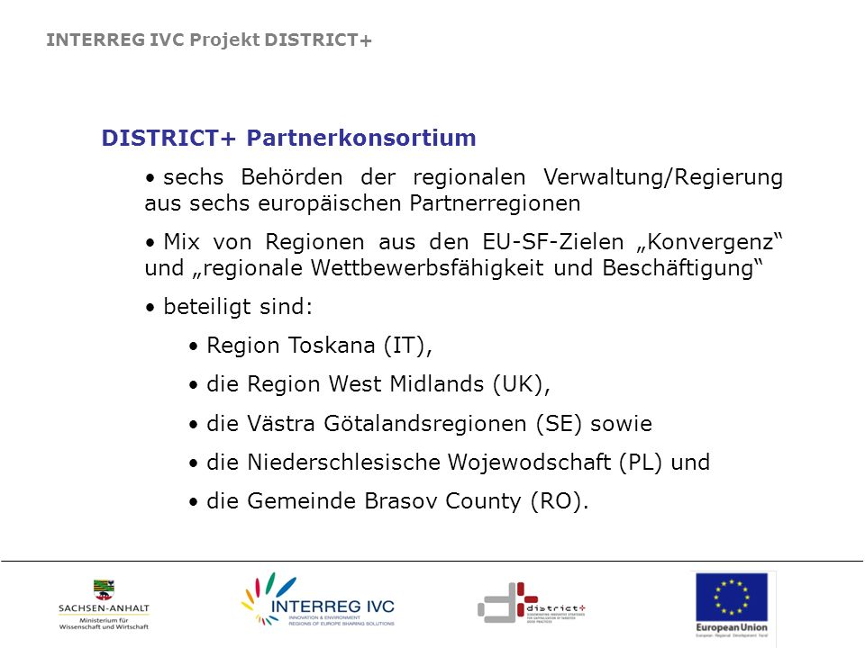 DISTRICT+ Partnerkonsortium