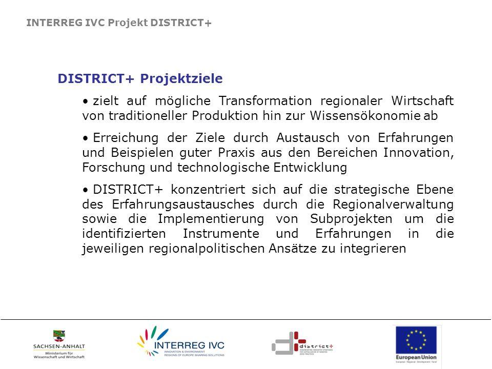 DISTRICT+ Projektziele