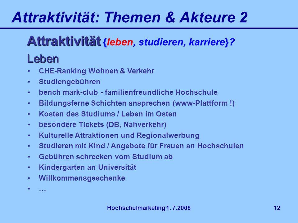 Attraktivität: Themen & Akteure 2