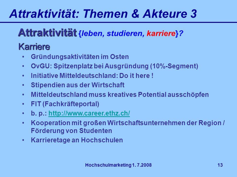 Attraktivität: Themen & Akteure 3