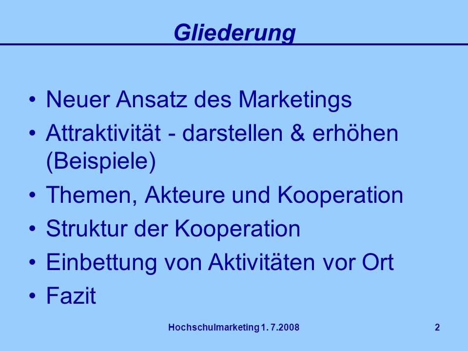 Neuer Ansatz des Marketings