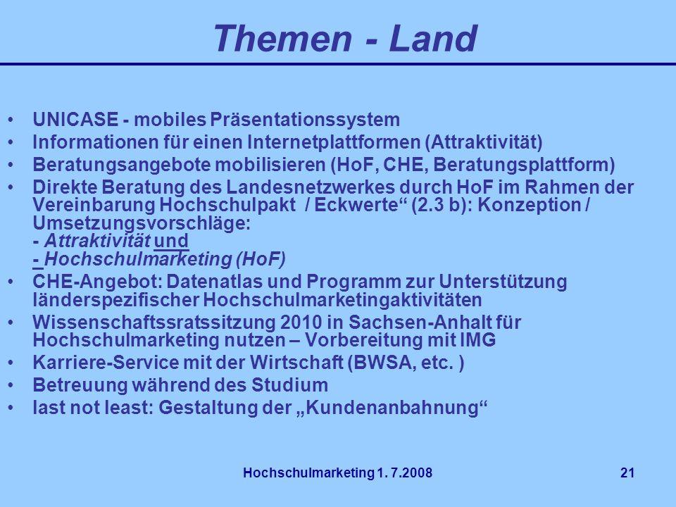 Themen - Land UNICASE - mobiles Präsentationssystem