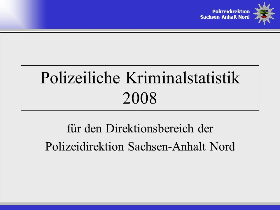 Polizeiliche Kriminalstatistik 2008