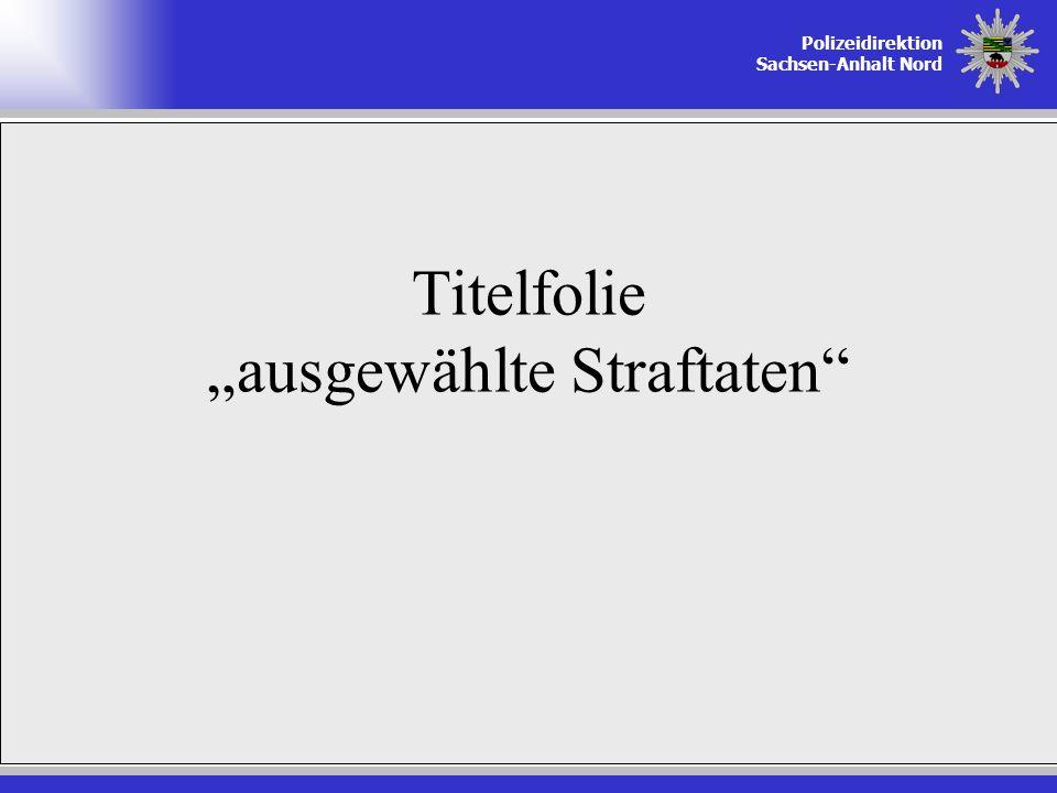 """Titelfolie """"ausgewählte Straftaten"""