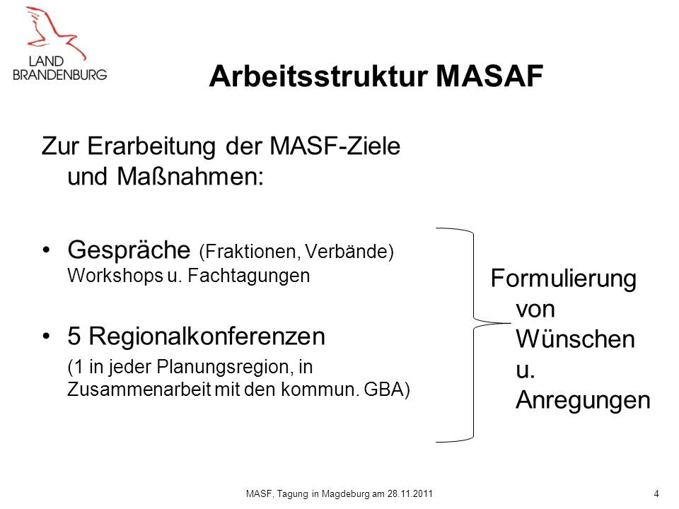 Arbeitsstruktur MASAF