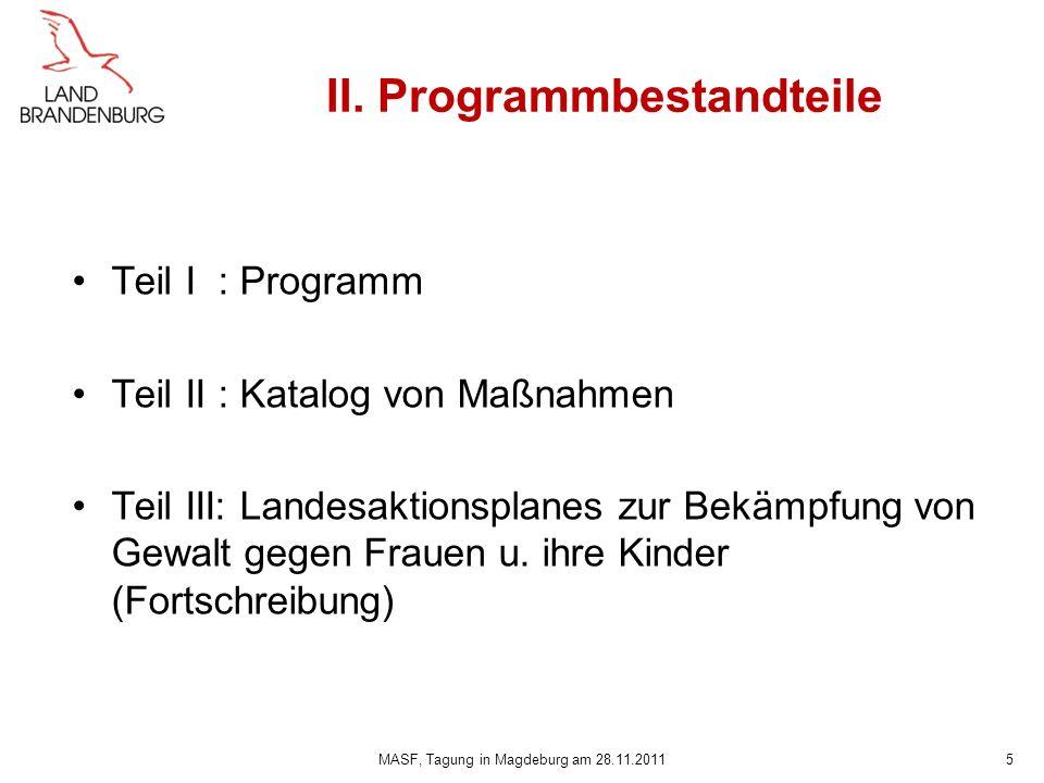 II. Programmbestandteile