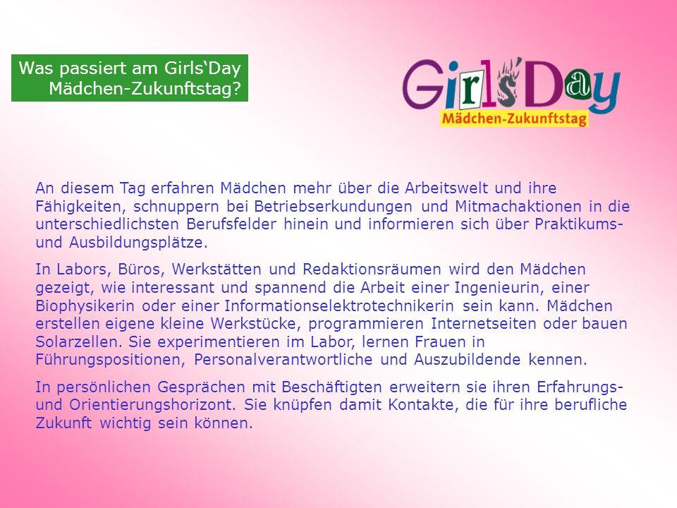 Was passiert am Girls'Day Mädchen-Zukunftstag