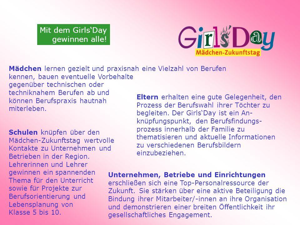 Mit dem Girls'Day gewinnen alle!