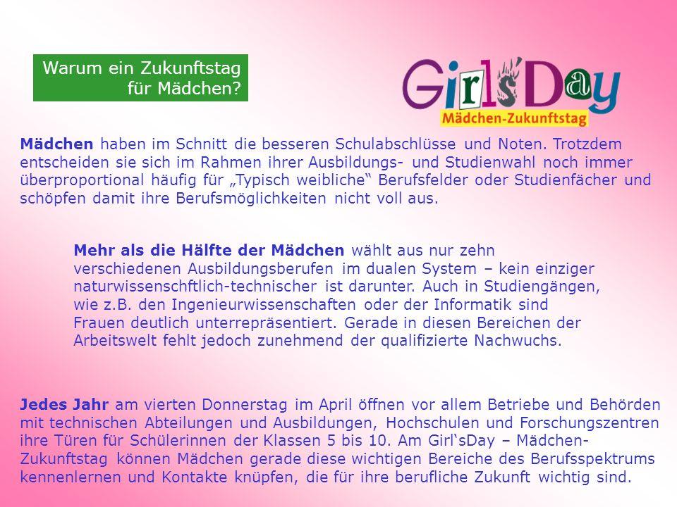 Warum ein Zukunftstag für Mädchen
