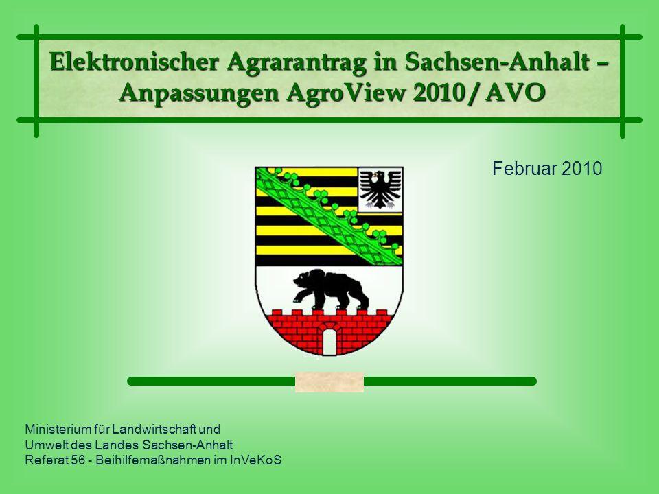 Februar 2010 Ministerium für Landwirtschaft und