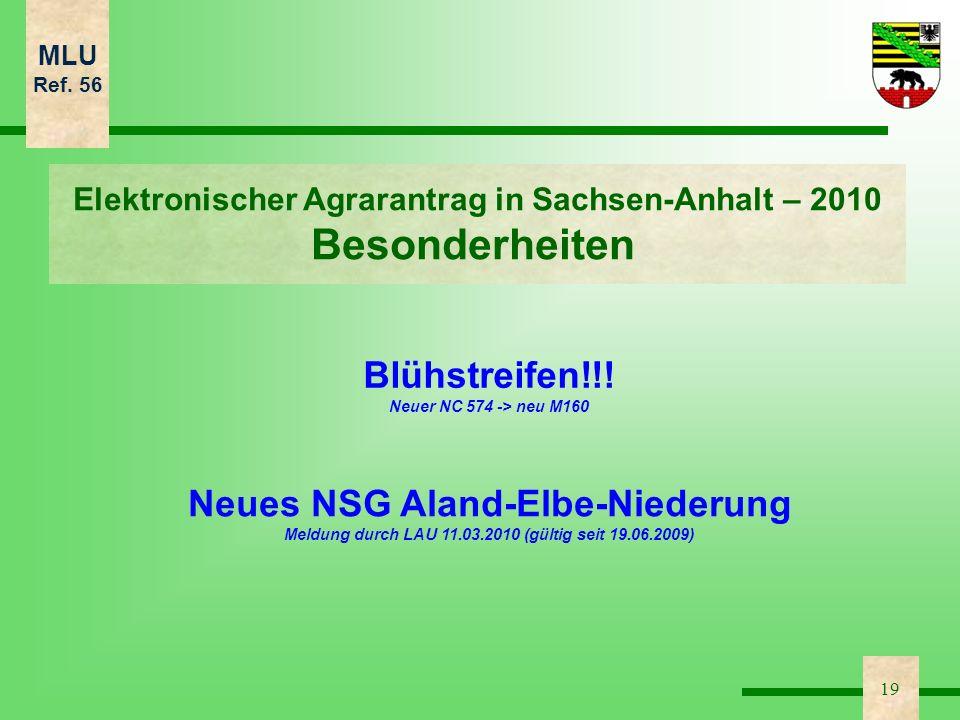 Besonderheiten Blühstreifen!!! Neues NSG Aland-Elbe-Niederung