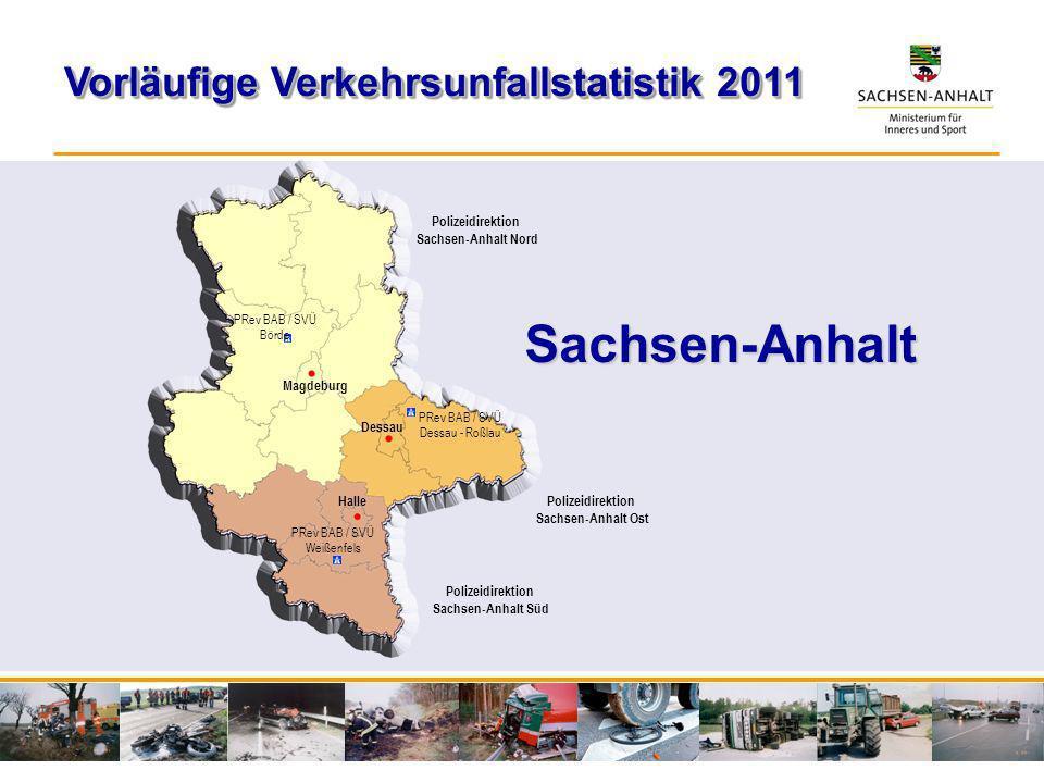 Sachsen-Anhalt Vorläufige Verkehrsunfallstatistik 2011